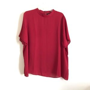 ASOS Maternity   red semi sleet high neck blouse